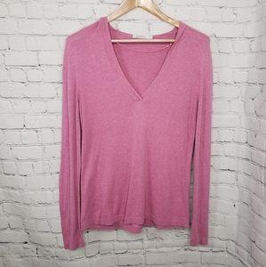 Sandwich_ Clothing Pink Fine Knit Sweater Hoodie